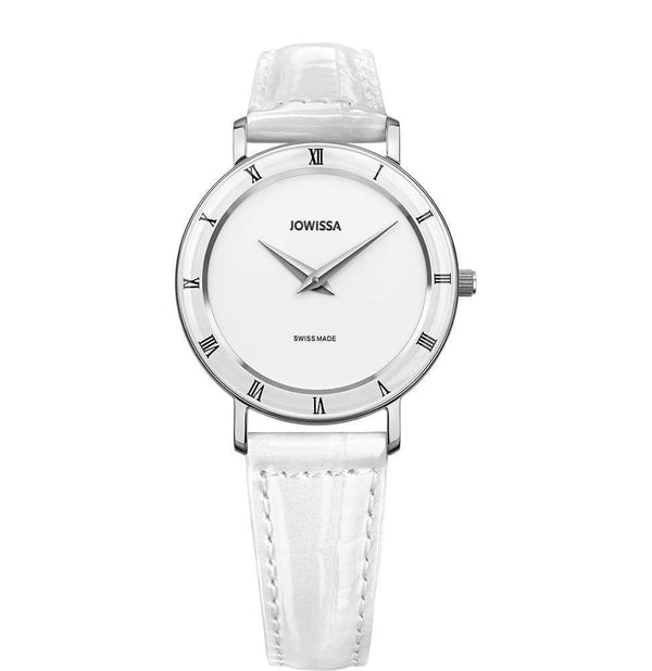 Roma Swiss Ladies White Leather Luxury Watch J2.274.M - My Bikini Flex