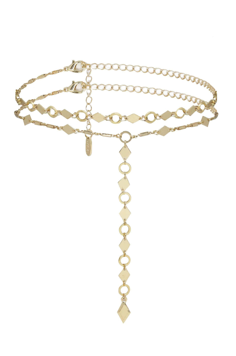Seek and Found Drop Choker Necklace in Gold - My Bikini Flex