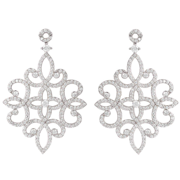 Sherazade Earrings Silver - My Bikini Flex