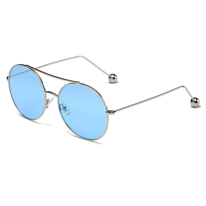 Women's Round Tinted Lens Aviator Balled Sunglasses - My Bikini Flex
