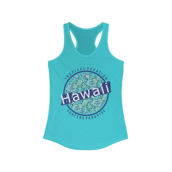 Women's Blue Hawaii Vacation Paradise Racerback Tank Top - My Bikini Flex