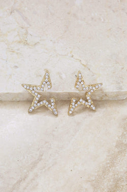 Star Light Earrings in Gold - My Bikini Flex