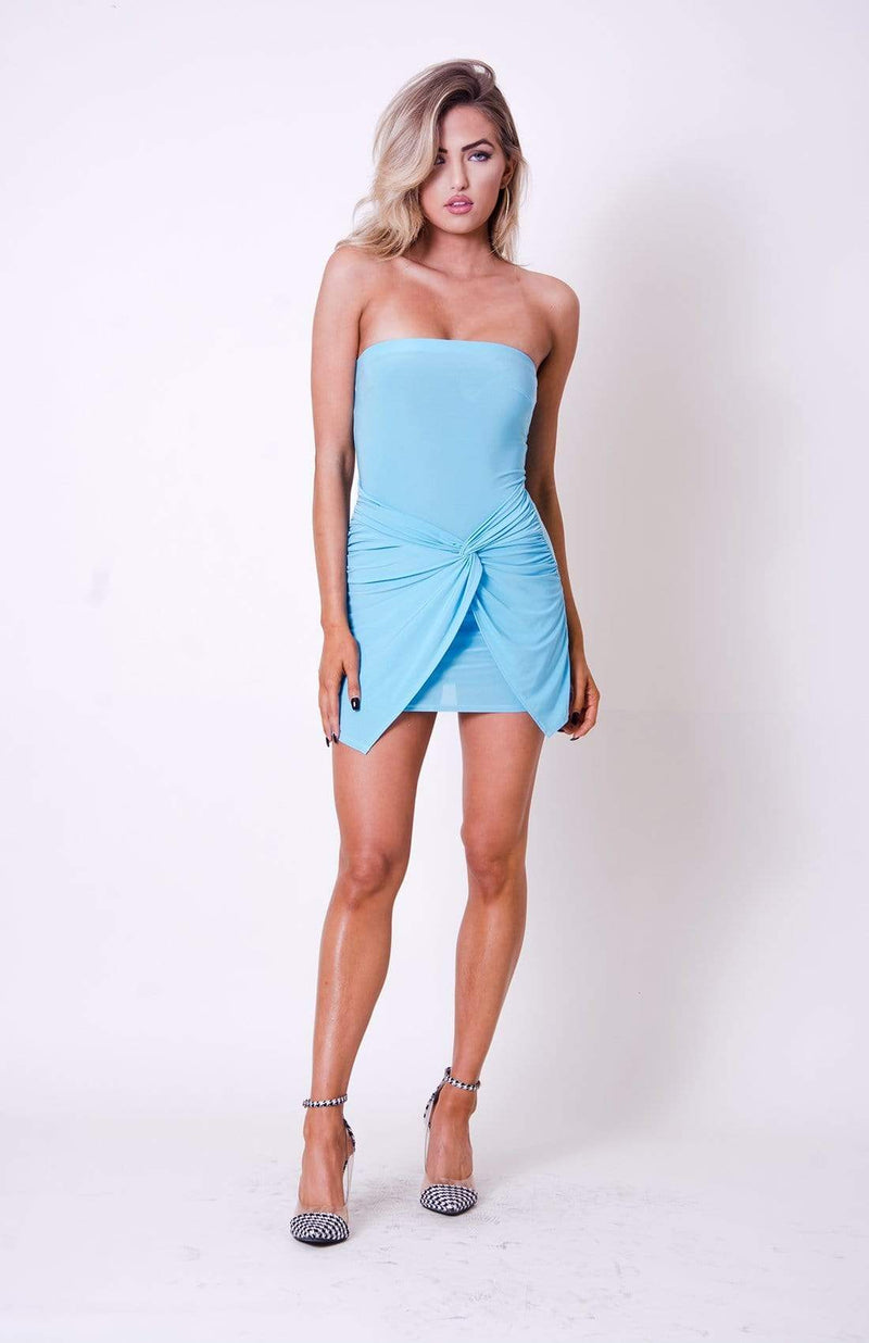 Strapless Wrap Mini Dress - My Bikini Flex