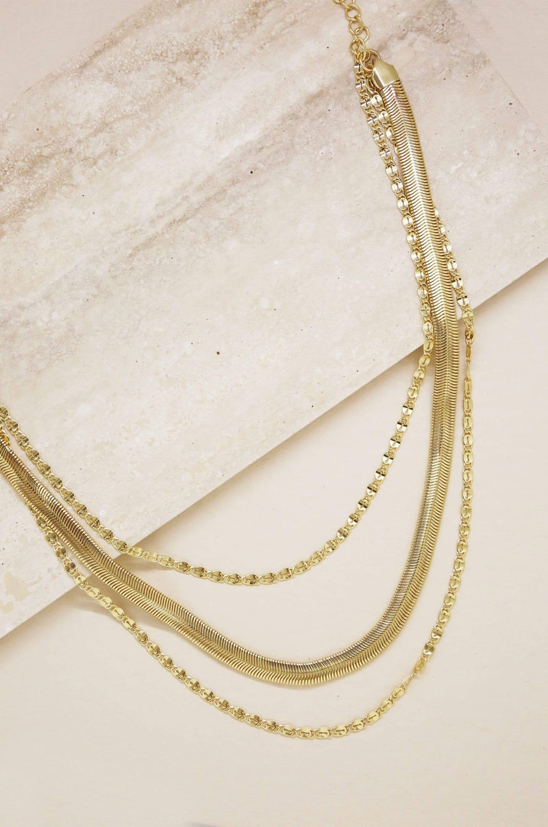 Supreme Mixed Chain Gold Layered Necklace - My Bikini Flex