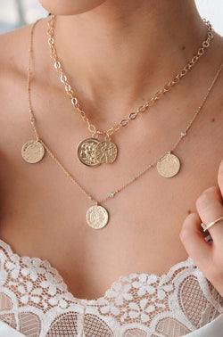The Adventurer Double Gold Coin Necklace - My Bikini Flex