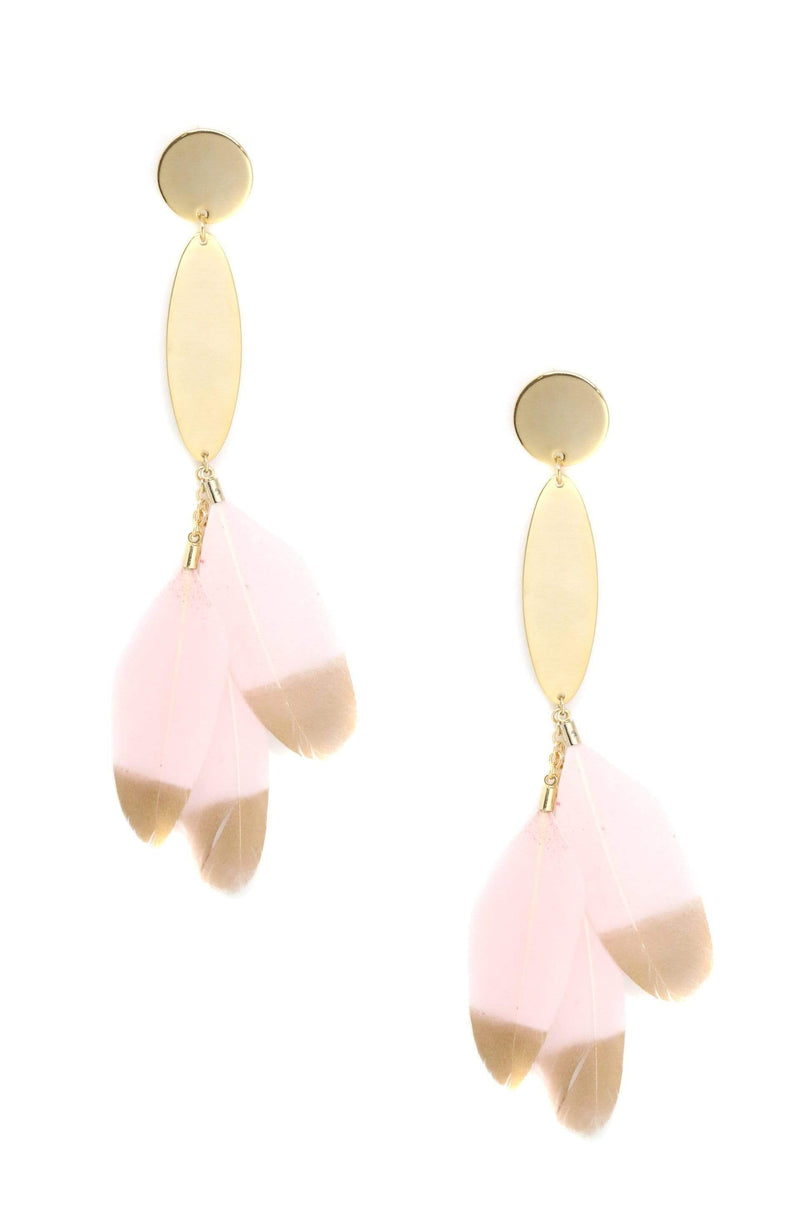 Tickle Me Pink Earrings in Light Pink and Gold - My Bikini Flex