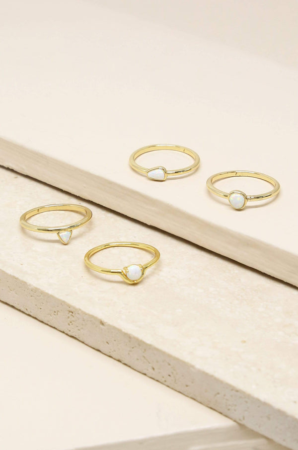 True Opal Stackers Ring Set of 4 - My Bikini Flex