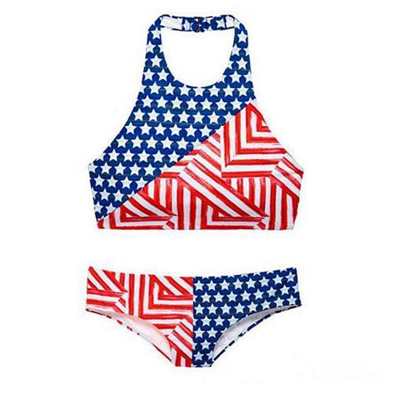 Unique Design American Flag Print Swimsuit Two Piece Bikini - My Bikini Flex