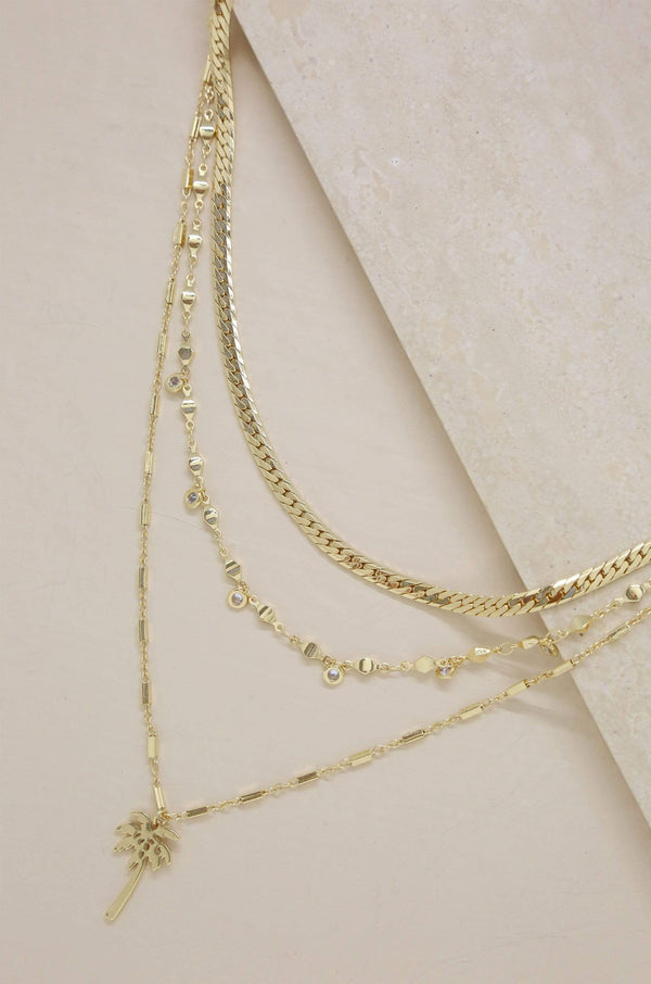 West Palm Layered Necklace in Gold - My Bikini Flex