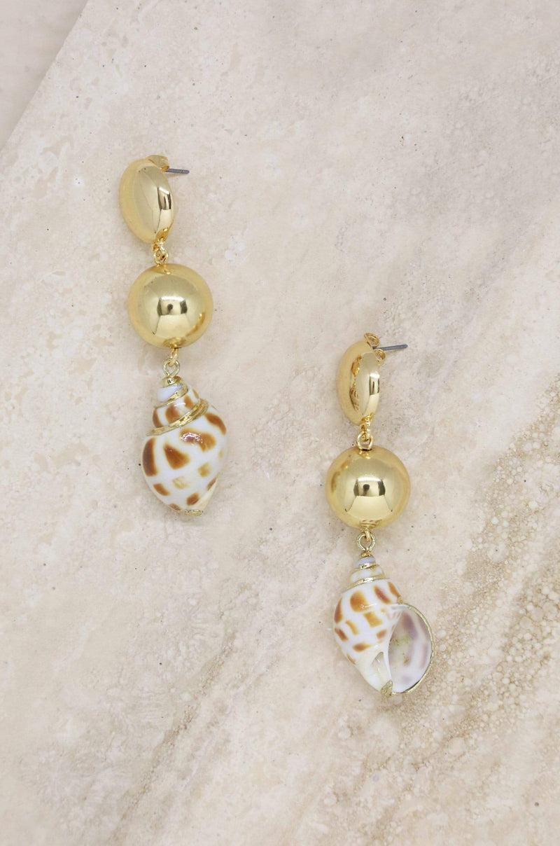 Women's Conch Shell Drop Earrings - My Bikini Flex