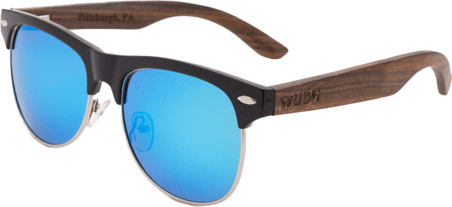 Women's Dark Walnut Retro Shade Blue Fashion Sunglasses - My Bikini Flex