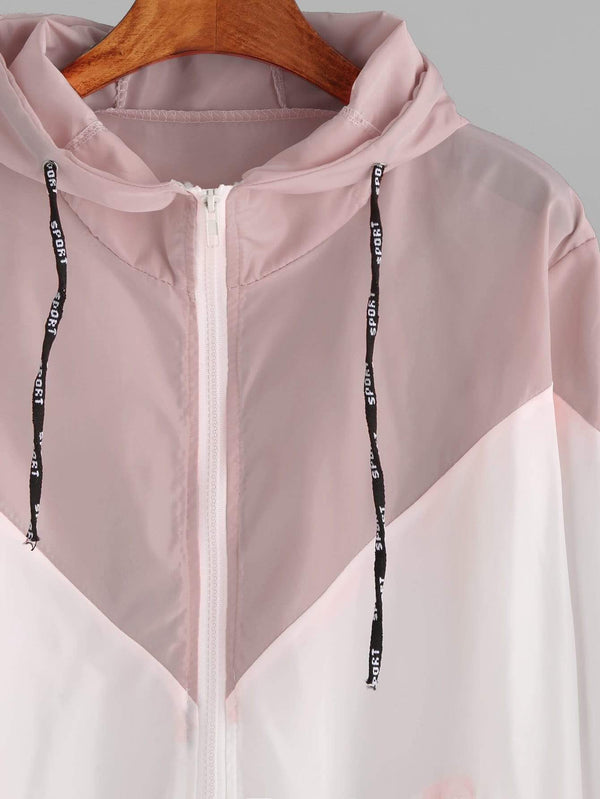 Women's Drawstring Sporty Pink Hoodie - My Bikini Flex