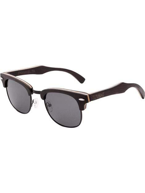 Women's Ebony 1/2 Wood Retro Shade UV Protection Sunglasses - My Bikini Flex