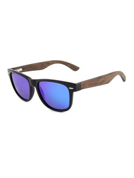 Women's Ebony Wood Classic Aqua Blue Fashion Sunglasses - My Bikini Flex