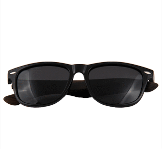 Women's Ebony Wood Wanderer Black Fashion Sunglasses - My Bikini Flex