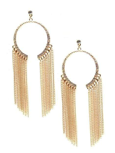 Women's Gold Marietta Statement Earrings - My Bikini Flex