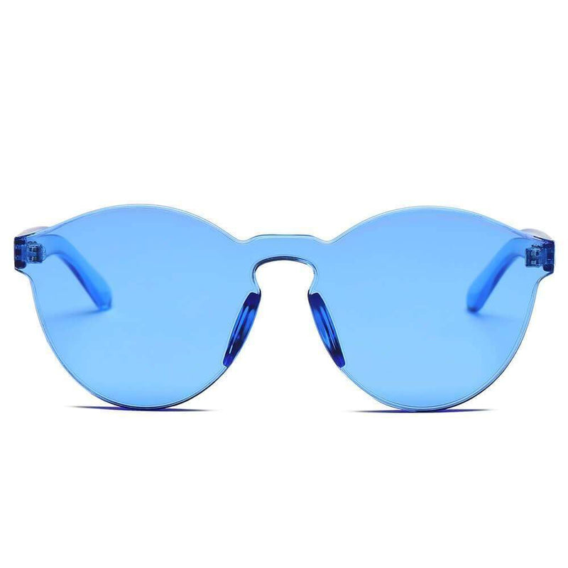 Women's Hipster Translucent Unisex Monochromatic Sunglasses - My Bikini Flex