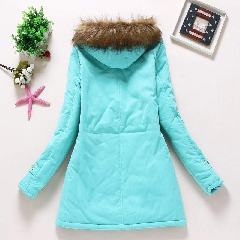 Women's Medium-Long Casual Parka Hoodie - My Bikini Flex