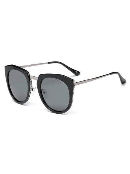 Women's Mirrored Polarized Lens Oversize Cat Eye Sunglasses - My Bikini Flex