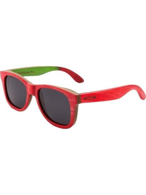 Women's Recycled Skatedeck Bluntslide Red Fashion Sunglasses - My Bikini Flex