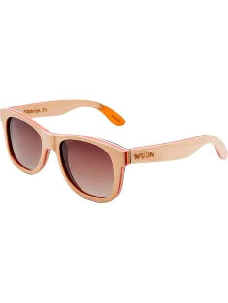 Women's Recycled Skatedeck Kickflip Natural Wood Sunglasses - My Bikini Flex