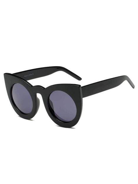Women's Round Black Cat Eye Oversize Fashion Sunglasses - My Bikini Flex