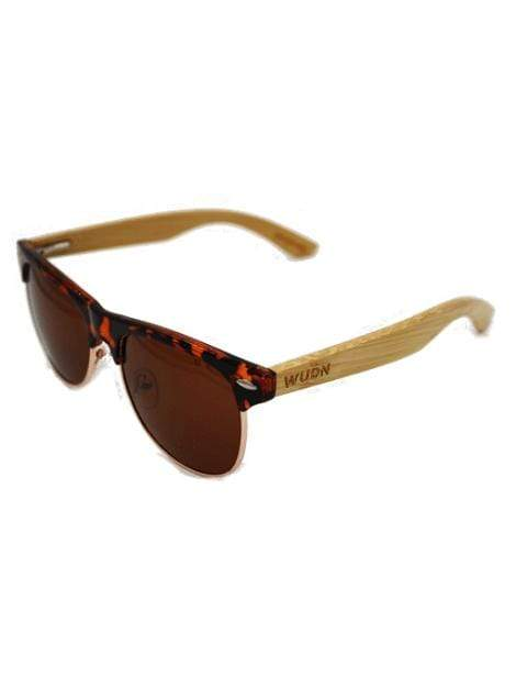 Women's Tortoise Frame Retro Shade Bamboo Sunglasses - My Bikini Flex