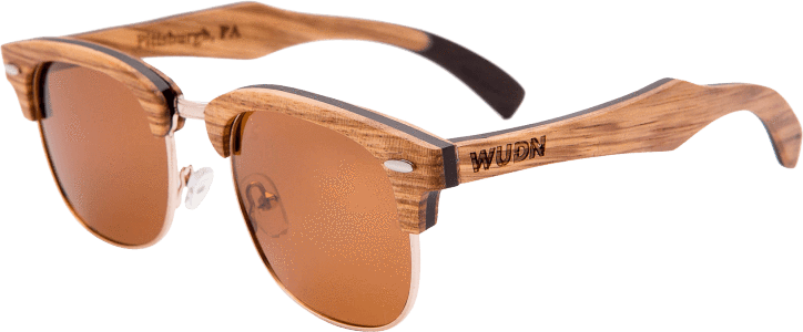 Women's Zebra 1/2 Wood Retro Shade Vintage Fashion Sunglasses - My Bikini Flex