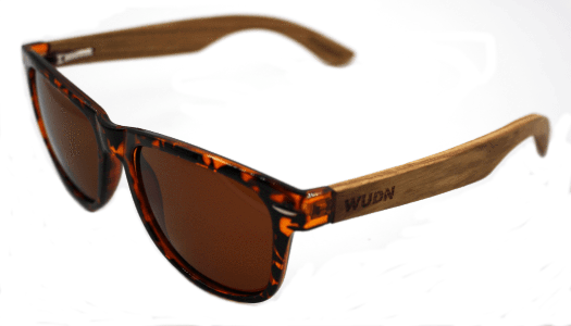 Women's Zebra Wood Tortoise Wanderer Brown Fashion Sunglasses - My Bikini Flex