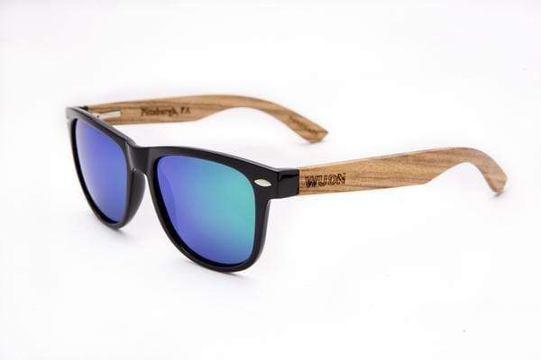 Women's Zebra Wood Wanderer Retro Fashion Green Sunglasses - My Bikini Flex