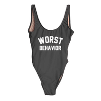"""Worst Behavior"" One Piece Bikini Swimsuit - My Bikini Flex"