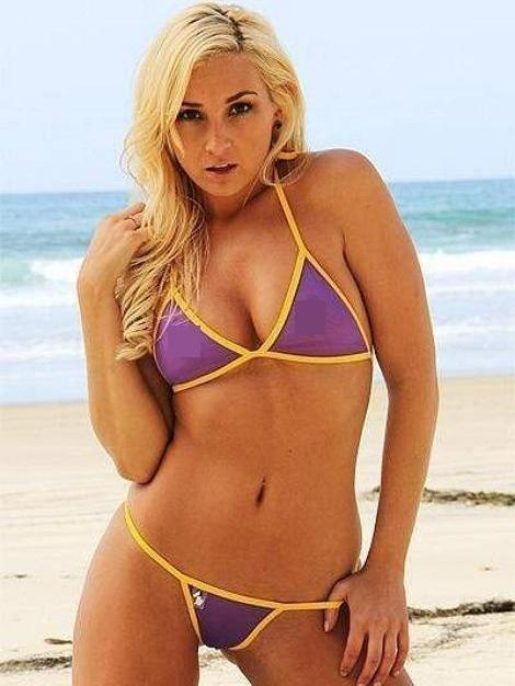 Yellow & Purple Sheer Mesh See Through Swimsuit G-String Thong Bikini Bottom V2 - My Bikini Flex