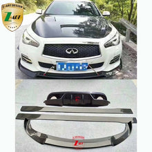 Load image into Gallery viewer, infiniti Q50 2014-2016 Carbon fiber Rear lip+front lip+side skirt - BtecRacing