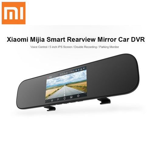 Xiaomi 5 inch Touch screen Smart Rearview Mirror Car DVR Sony IMX323 with Voice Control APP 160 Degree Car Dash Cam Night Vision - BtecRacing