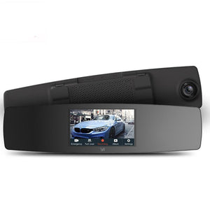 YI Rearview Mirror Dash Cam Touch Screen Front Rear View HD Auto Video Car Wifi DVR Camera Recorder G Sensor Night Vision - BtecRacing