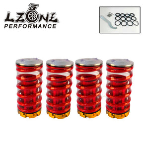 LZONE - Aluminum Coilover Kits for Honda Civic 88-00 Red available Coilover Suspension / Coilover Springs JR-TH11R - BtecRacing