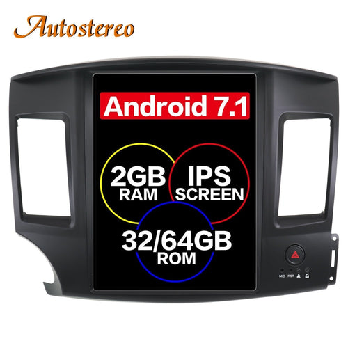 Tesla style Android Car GPS navigation For Mitsubishi Lancer EVO 2007-2017 multimedia no DVD player headunit radio tape recorder - BtecRacing