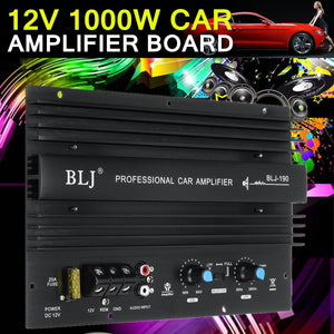 Car Audio High Power Amplifier 12V 1000W 105dBA Mono Amp Board Powerful Bass Subwoofer Power Connection Electric Components - BtecRacing