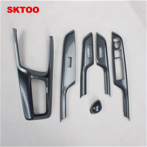 SKTOO  For Honda Civic 9th carbon fiber interior trim adapted For Civic 8th electric Windows protection stickers The modified - BtecRacing