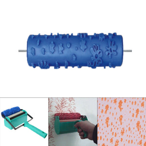 Embossed Paint Roller Wall Texture Stencil