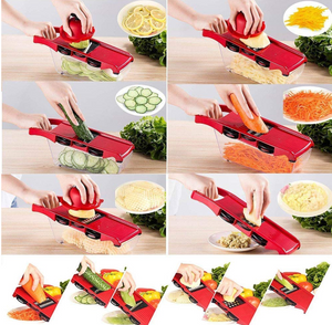 Vegetable chopper-6 exchangeable knife with peeler and fruit cheese cutter