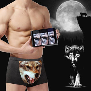 Men's 3D Fierce Wolf Underwear (3PCS)
