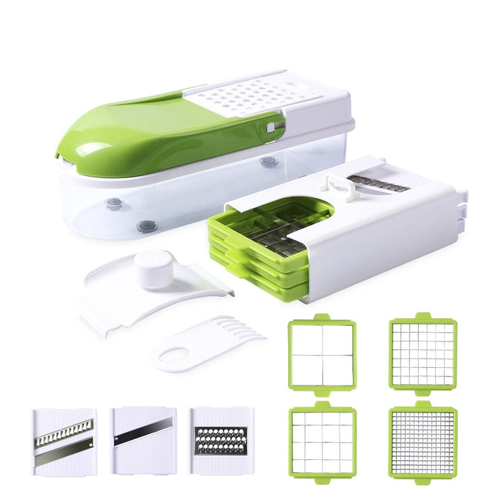Multifunction vegetable cutter with 8 dice blades
