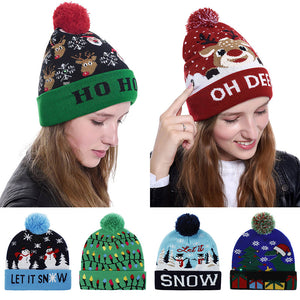 50%OFF&BUY 2 FREE SHIPPING--Pompom Led Hats For Men Girls and Children
