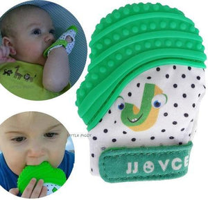Silicone bite and pacifier glove