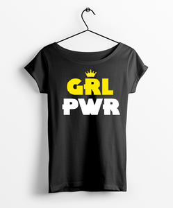 Girl Power Round Neck Women T-Shirt