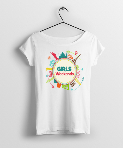 Girls Weekend Round Neck Women T-Shirt - Almytees