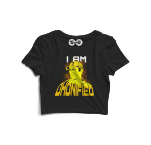 I Am Dhonified Crop Top - Almytees