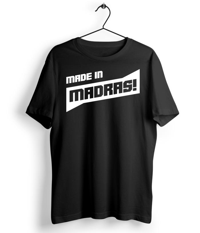 Made In Madras Black Tshirt - Almytees