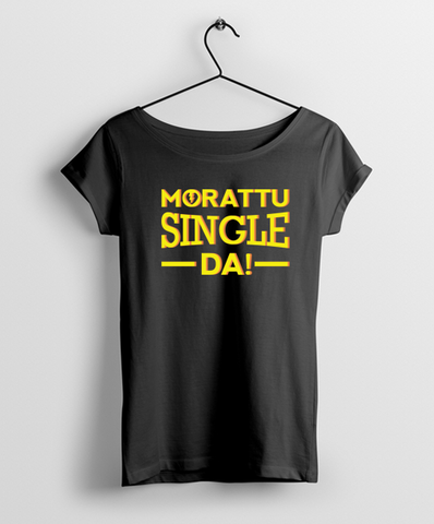 Morattu Single Da Women Round Neck T-Shirt